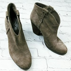 Vince Camuto Brown Suede Leather Cowboy Boot 10 M